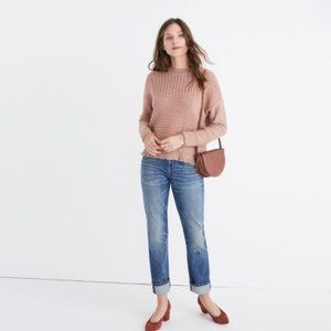 MADEWELL Stitchmix Pullover Sweater Wool Rose Pink